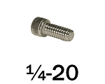 1/4-20 x 5/8 in Stainless Steel Socket Head Cap Screw, 50 pcs