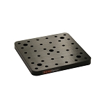 150mm x 150mm x 13mm Solid Aluminum Breadboard, Metric