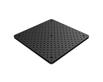 12 in x 12 in Double Density Solid Aluminum Breadboard