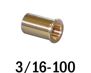 "3/16""-100 Bushing - 0.44 in (7/16 in) Long"