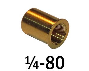 "1/4""-80 Bushing - 0.44 in (7/16 in) Long"