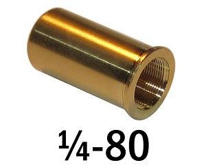 "1/4""-80 Bushing - 0.63 in (5/8 in) Long"