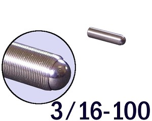 "3/16""-100 Fine Adjustment Screw - 0.750 in (3/4 in) Long"