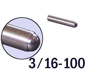 "3/16""-100 Fine Adjustment Screw - 1.00 in (1 in) Long"