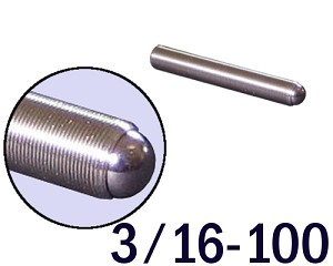 "3/16""-100 Fine Adjustment Screw - 1.25 in (1 1/4 in) Long"