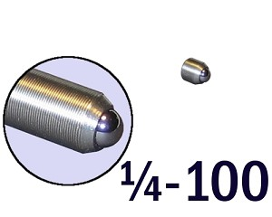 "1/4""-100 Fine Adjustment Screw - 0.31 in (5/16 in) Long"
