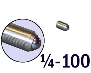 "1/4""-100 Fine Adjustment Screw - 0.44 in (7/16) Long"
