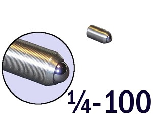 "1/4""-100 Fine Adjustment Screw - 0.50 in (1/2 in) Long"