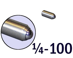 "1/4""-100 Fine Adjustment Screw - 0.63 in (5/8 in) Long"