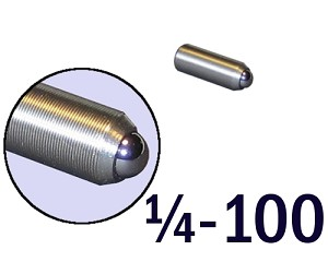 "1/4""-100 Fine Adjustment Screw - 0.75 in (3/4 in) Long"