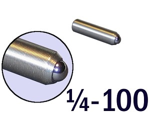 "1/4""-100 Fine Adjustment Screw - 1.00 in (1 in) Long"