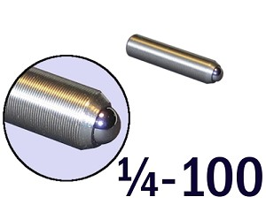 "1/4""-100 Fine Adjustment Screw - 1.13 in (1 1/8 in) Long"