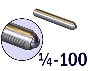 "1/4""-100 Fine Adjustment Screw - 1.50 in (1 1/2 in) Long"