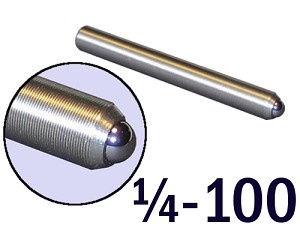 "1/4""-100 Fine Adjustment Screw - 2.13 in (2 1/8 in) Long"