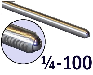 "1/4""-100 Fine Adjustment Screw - 3.50 in (3 1/2 in) Long"