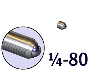 "1/4""-80 Fine Adjustment Screw - 0.31 in (5/16 in) Long"