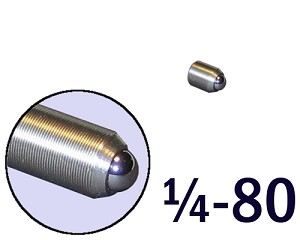 "1/4""-80 Fine Adjustment Screw - 0.38 in (3/8 in) Long"