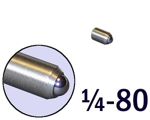 "1/4""-80 Fine Adjustment Screw - 0.44 in (7/16) in Long"