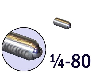 "1/4""-80 Fine Adjustment Screw - 0.63 in (5/8 in) Long"