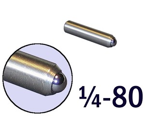 "1/4""-80 Fine Adjustment Screw - 1.13 in (1 1/8 in) Long"