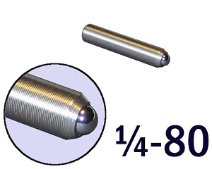 "1/4""-80 Fine Adjustment Screw - 1.25 in (1 1/4 in) Long"
