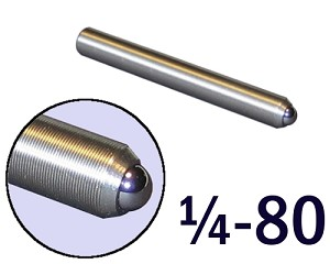 "1/4""-80 Fine Adjustment Screw - 2.00 in (2 in) Long"