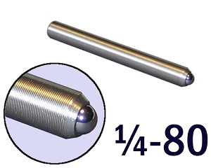"1/4""-80 Fine Adjustment Screw - 2.13 in (2 1/8 in) Long"
