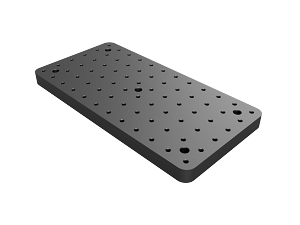 150mm x 300mm x 20mm Thick Aluminum Breadboard