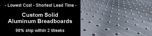 Custom solid aluminum optical breadboards