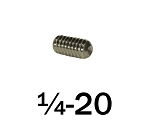 1/4-20 x 1/2 in Stainless Steel Set Screw, 50 pcs