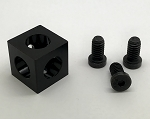 X2020 Black Anodized Aluminum Corner Cubes for Enclosures
