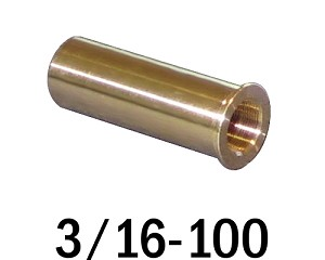 "3/16""-100 Bushing - 0.75 in (3/4 in) Long"