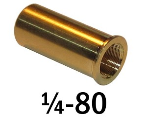 "1/4""-80 Bushing - 0.75 in (3/4 in) Long"
