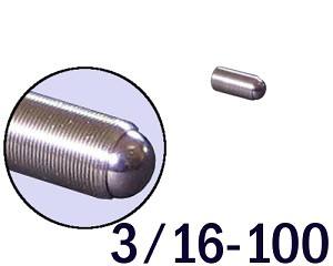 "3/16""-100 Fine Adjustment Screw - 0.438 in (7/16 in) Long"