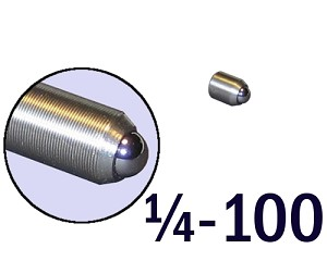 "1/4""-100 Fine Adjustment Screw - 0.38 in (3/8 in) Long"