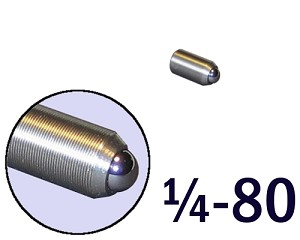 "1/4""-80 Fine Adjustment Screw - 0.50 in (1/2 in) Long"