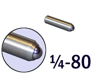 "1/4""-80 Fine Adjustment Screw - 1.00 in (1 in) Long"