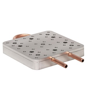 6 in x 6 in Water Cooled Breadboard, Un-Anodized